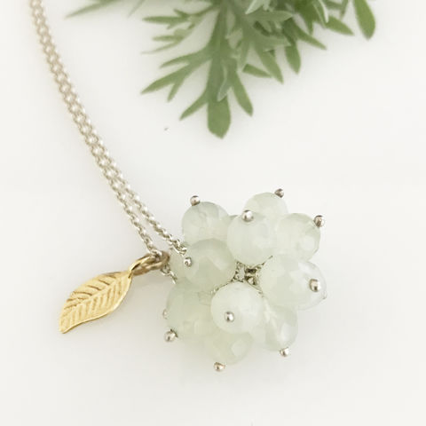 'Wearing,Nature',-,green,quartz,cluster,with,gold,leaf,necklace,silver jewellery, contemporary jewellery, necklace, pendant, green quartz, wearing nature, nature, nature jewellery, handmade