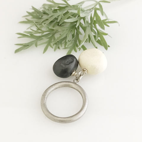 'Special,Offer',-,White,and,black,porcelain,stone,shaped,silver,ring,silver jewellery, contemporary jewellery, ring, porcelain ring, porcelain ring and silver ring band, handmade jewellery, porcelain jewellery