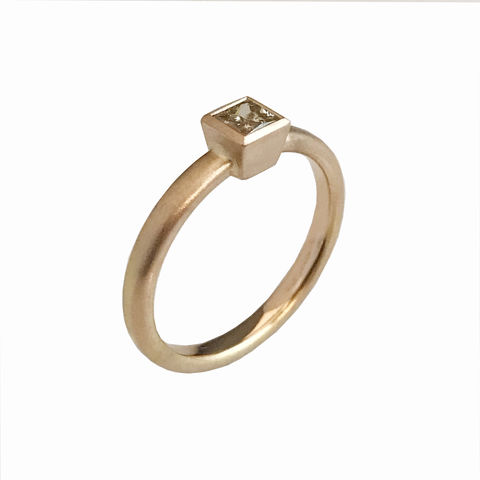 'Gem,Amour',-,Rose,gold,ring,with,brown,diamond,handcrafted jewellery in London, handmade in UK, bridal jewellery, wedding, unique enagement ring, brown diamond engagement ring,  princess cut brown diamond