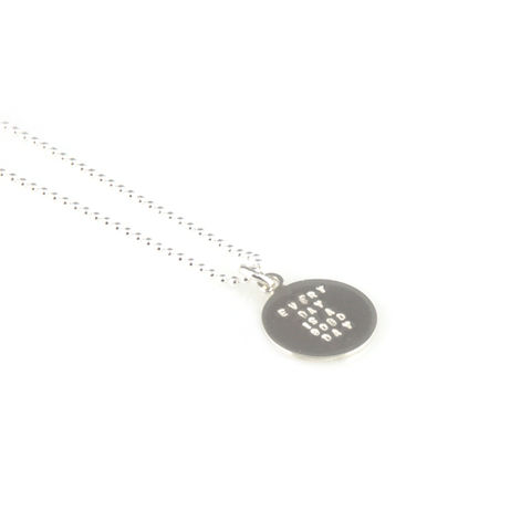 'Every,day,is,a,good,day',-,small,silver,round,disc,pendant,with,wording,'every,silver jewellery, contemporary jewellery, necklace, pendant