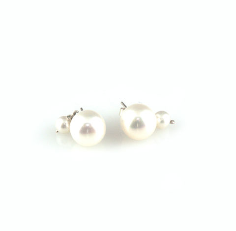 'Pearl,Wonder',-,round,pearl,earrings,with,little,drop,silver jewellery, contemporary jewellery, bridal jewellery, wedding, earrings