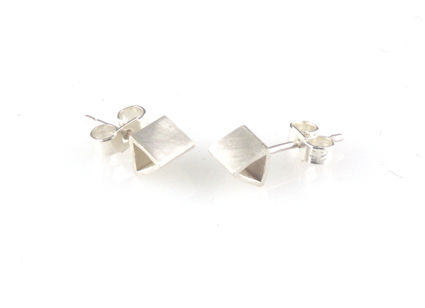 'Special,Offer',-,Silver,triangle,shape,ear,stud,silver jewellery, contemporary jewellery, earrings