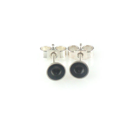 'Special,Offer',-,black,oxidized,silver,small,size,round,bowl,earrings,silver jewellery, contemporary jewellery, earrings