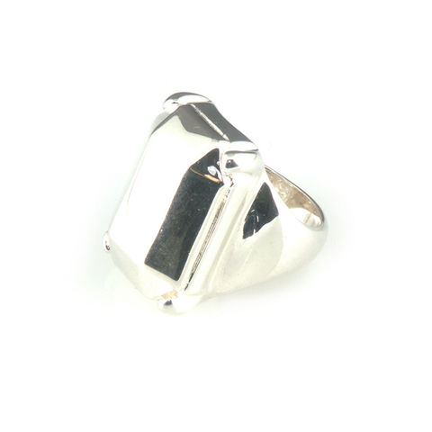 'Daimond,Temptation',-,big,silver,emerald,cut,diamond,shaped,ring,silver jewellery, contemporary jewellery, ring