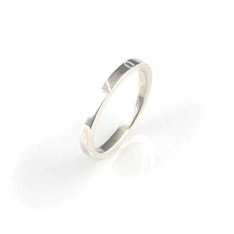 'X,collection',-,silver,ring,with,words,'X',and,'O',silver jewellery, contemporary jewellery, ring, valentine