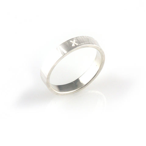 'X,collection',-,silver,ring,with,word,'X',silver jewellery, contemporary jewellery, ring, valentine
