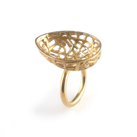 'Best,Before',-,3cm,gold,plated,silver,egg,ring,silver jewellery, contemporary jewellery, ring, egg ring, half egg ring