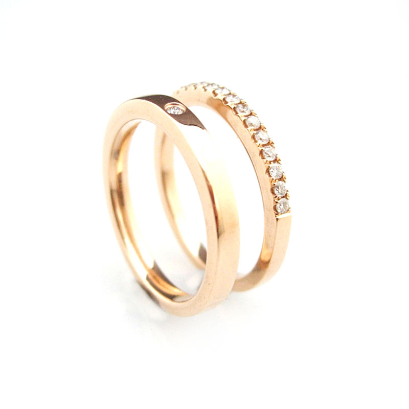 'Bridal & Besoke' - 18ct Rose gold wedding rings - product images  of