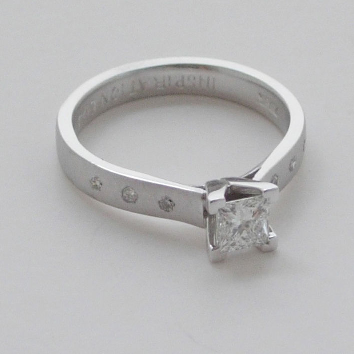 'Bridal & Bespoke' - White gold princess cut diamond ring - product images  of