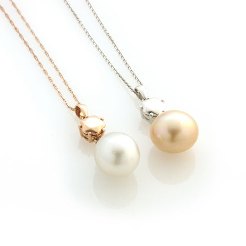 'Bridal,&,Bespoke',-,Rose,gold,and,white,diamond,south,sea,pearl,necklace,bridal jewellery, wedding, necklace, contemporary, south sea pearls