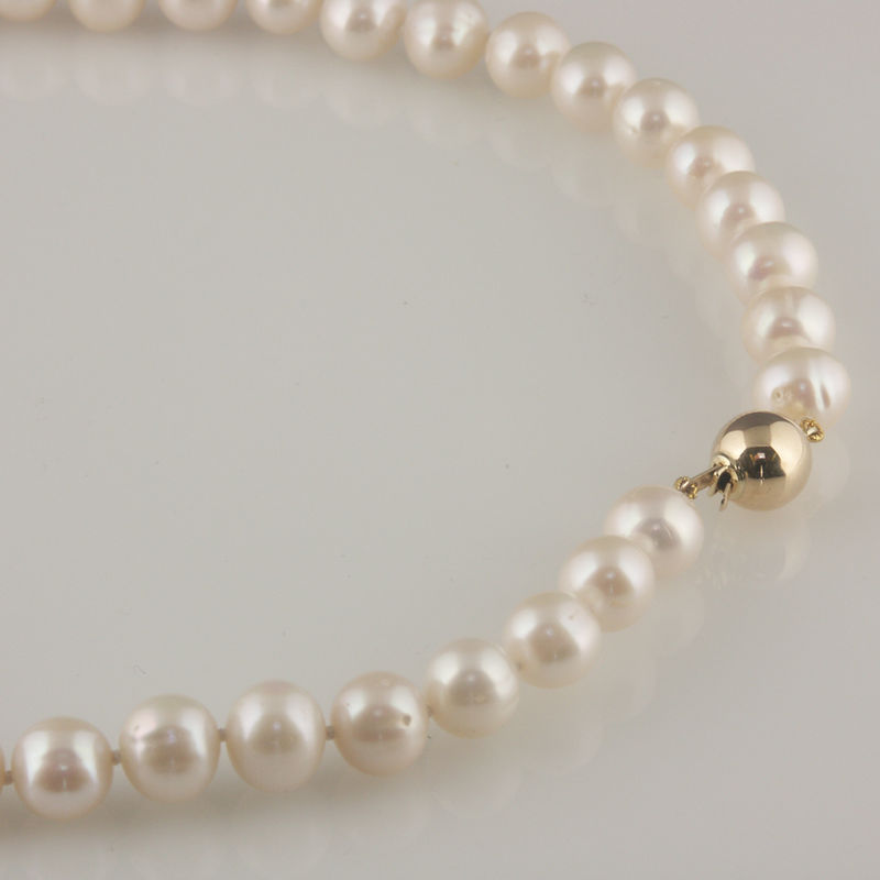 'Bridal & Bespoke' - Pearl necklace with 9ct gold ball clasp - product images  of