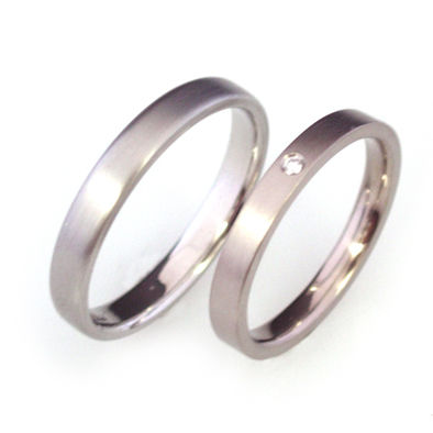 'Bridal & Bespoke' - Platinum wedding ring and white gold wedding ring - product images
