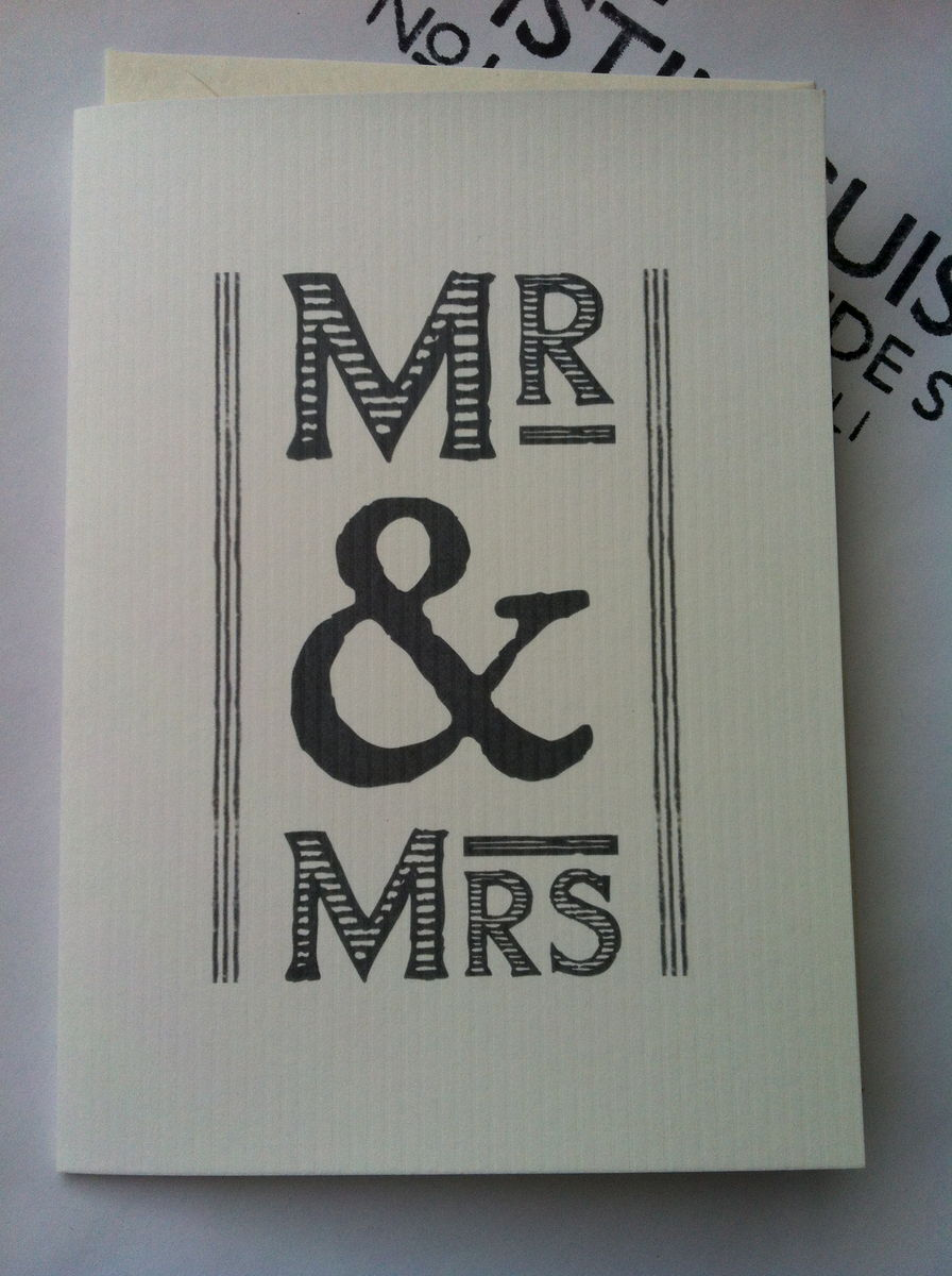 Mr & Mrs Card by East of India - product images  of