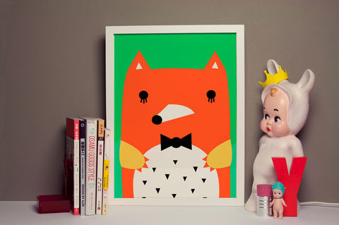30%,OFF,Mr,Fox,Print,by,Noodoll,Ricetache Print by Noodoll