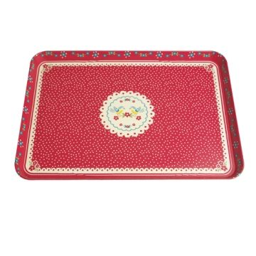 50%,OFF,Red,Doily,Snack,Tray,by,Rex,International,50% OFF Red Doily Snack Tray by Rex International