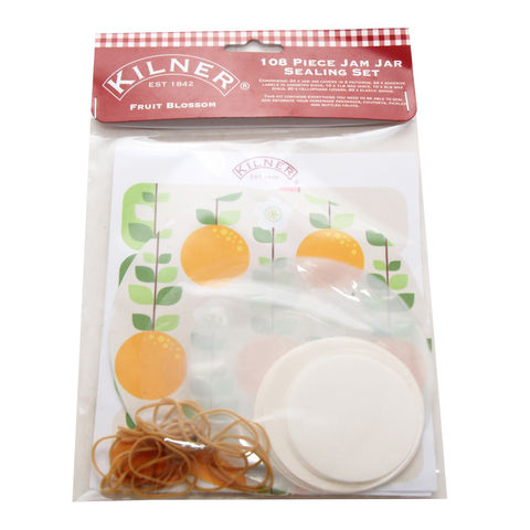 50%,OFF,108pc,Fruit,Blossom,Jam,Jar,Sealing,Kit,by,Kilner,108pc Fruit Blossom Jam Jar Sealing Kit by Kilner