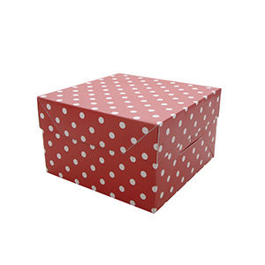 "50% OFF 8"" (20cm) Red Polka Dot Cake Box by Mason Cash - product images  of"