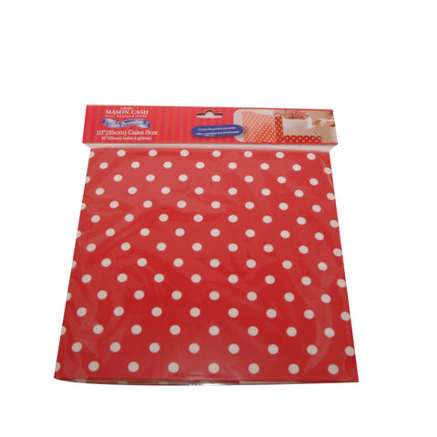 50%,OFF,10,(25cm),Red,Polka,Dot,Cake,Box,by,Mason,Cash,10 (25cm) Red Polka Dot Cake Box by Mason Cash
