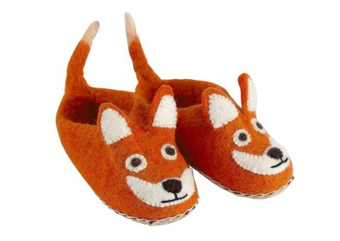 Childs,Felt,Fox,Slippers,-,ONE,SIZE,ONLY,Childs Felt Fox Slippers - ONE SIZE ONLY