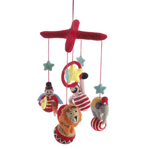Felt,Playroom,Mobile,-,Circus,Felt Playroom Mobile - Circus