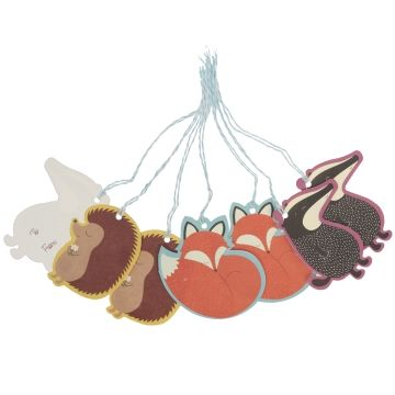 Set,of,6,Rusty,&,Friends,Gift,Tags,by,Rex,International,Set of 6 Rusty & Friends Gift Tags by Rex International
