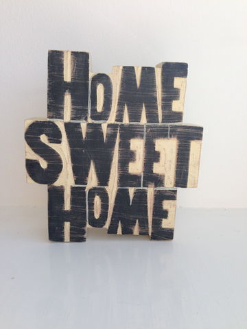 70%,OFF,Home,Sweet,Distressed,Word,Block,by,East,of,India,Home Sweet Home Distressed Word Block by East of India