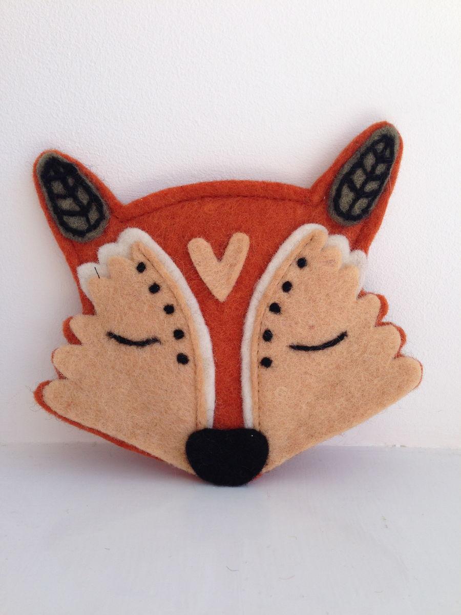 31f4e420cde Felt Fox Purse