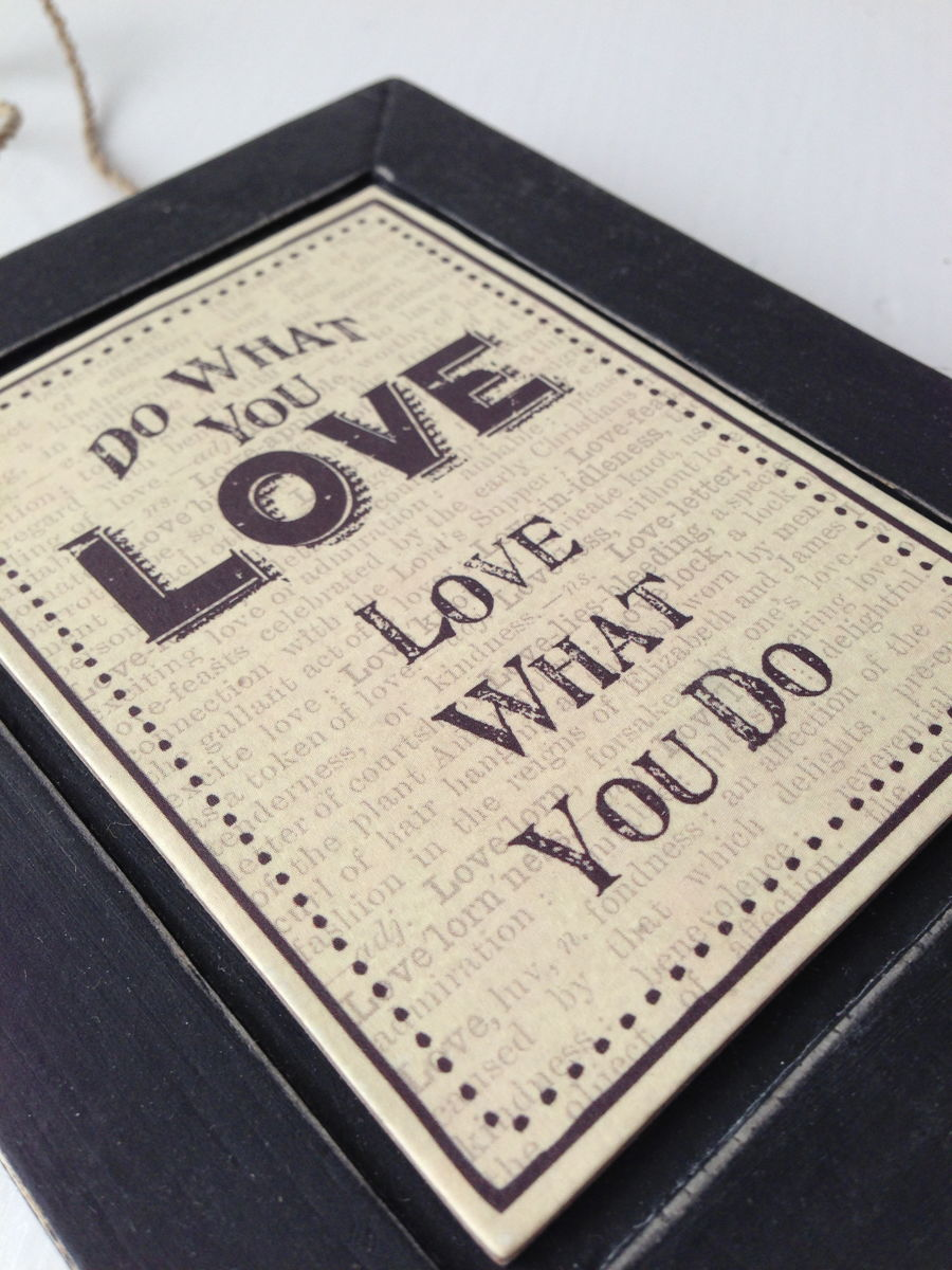 70% OFF Do What You Love, Love What You Do Hanging Frame by East Of India - product images  of