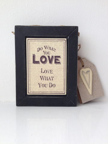 70%,OFF,Do,What,You,Love,,Love,Hanging,Frame,by,East,Of,India,Do What You Love, Love What You Do Hanging Frame by East Of India