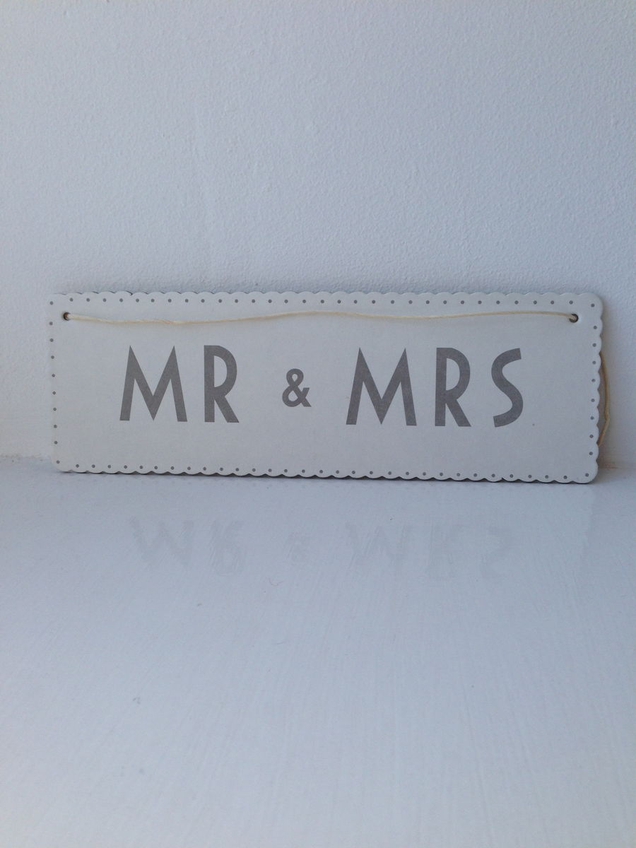 70% OFF Paper Ribbon Sign Mr & Mrs, Hen Party or To Have & to Hold by East of India - product images  of