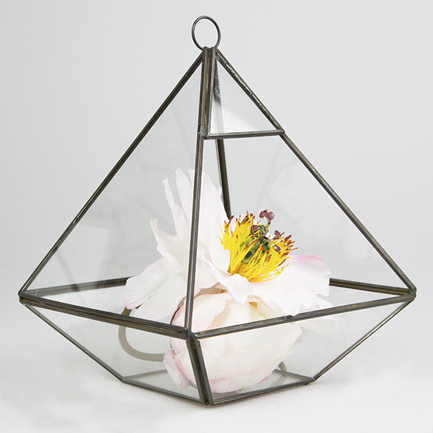 Black Pyramid Shape Terrarium by Sass & Belle - product images  of