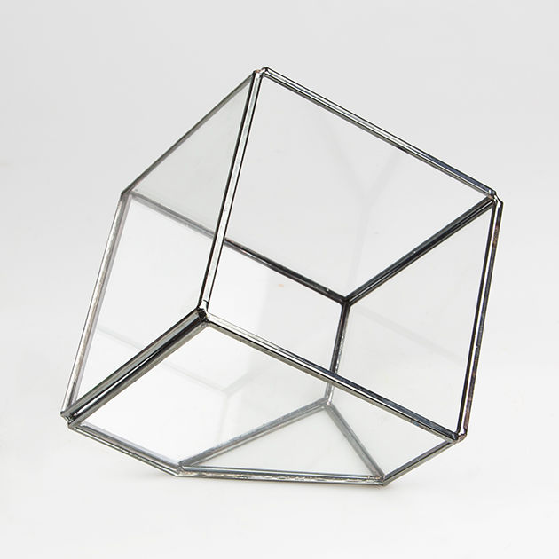 Black Cube Shape Terrarium by Sass & Belle - product images  of