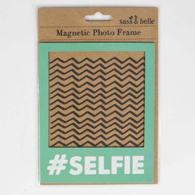 Selfie Magnetic Polaroid Photo Frame BLUE or MINT GREEN by Sass & Belle - product images  of