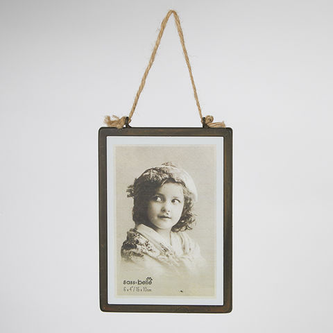 Industrial,Finish,Rectangular,Hanging,Photo,Frame,by,Sass,&,Belle,Industrial Finish Rectangular Hanging Photo Frame by Sass & Belle