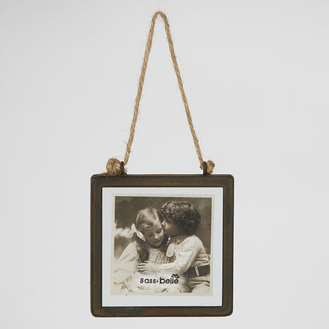 Industrial,Finish,Square,Hanging,Photo,Frame,by,Sass,&,Belle,Industrial Finish Square Hanging Photo Frame by Sass & Belle