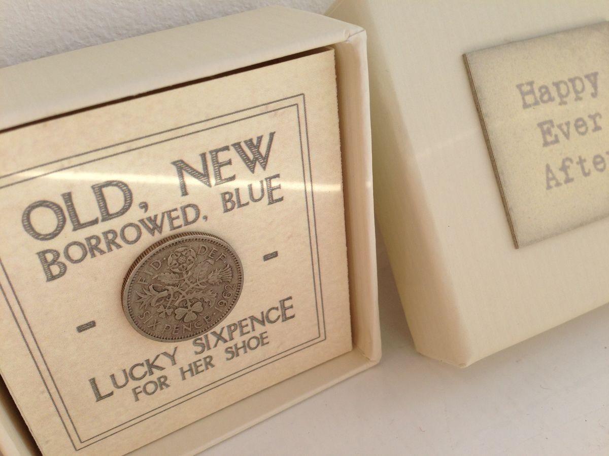 Happy Ever After Boxed Lucky Sixpence by East Of India - product images  of