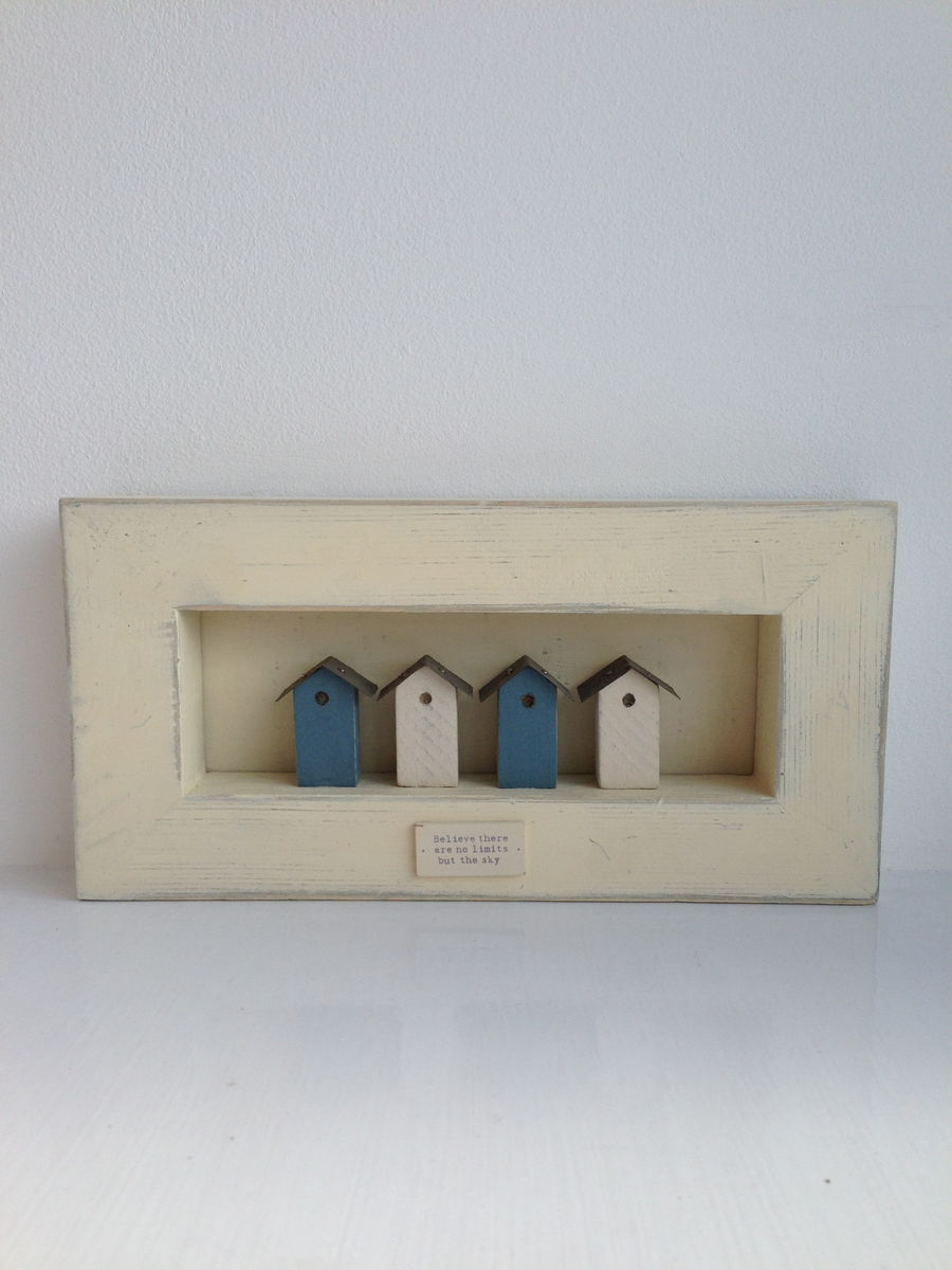 70% OFF East of India Large Birdhouse wooden framed CREAM - product images  of