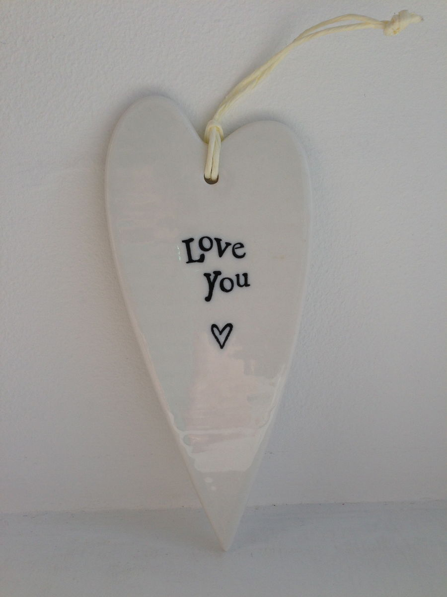 50% OFF Long Porcelain Heart by East Of India - product images  of