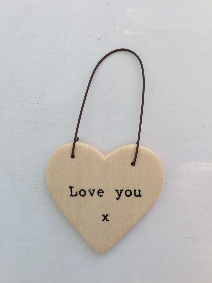 Little Plywood Heart Tokens by East of India - product images  of