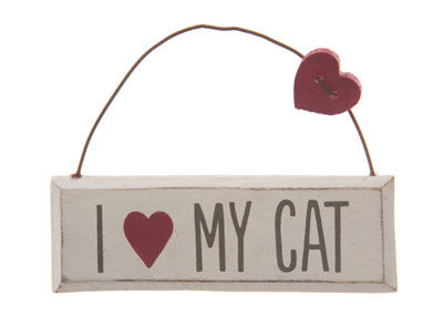 I,Love,My,Cat,Hanging,Plaque,by,Sass,&,Belle,I Love My cat Hanging Plaque by Sass & Belle