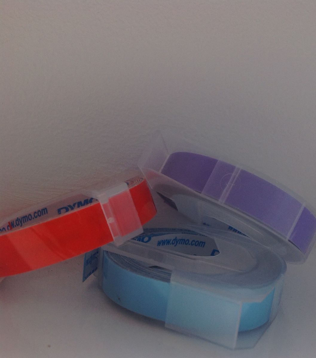 Dymo Tape 9mm x 3 metres - LILAC PURPLE, ORANGE or PASTEL SKY - product images  of