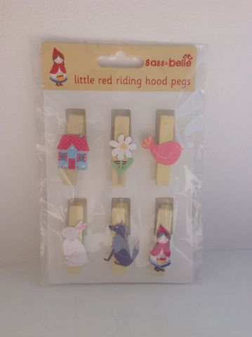 70%OFF,Red,Riding,Hood,Pegs,by,Sass,&,Belle,Red Riding Hood Pegs by Sass & Belle