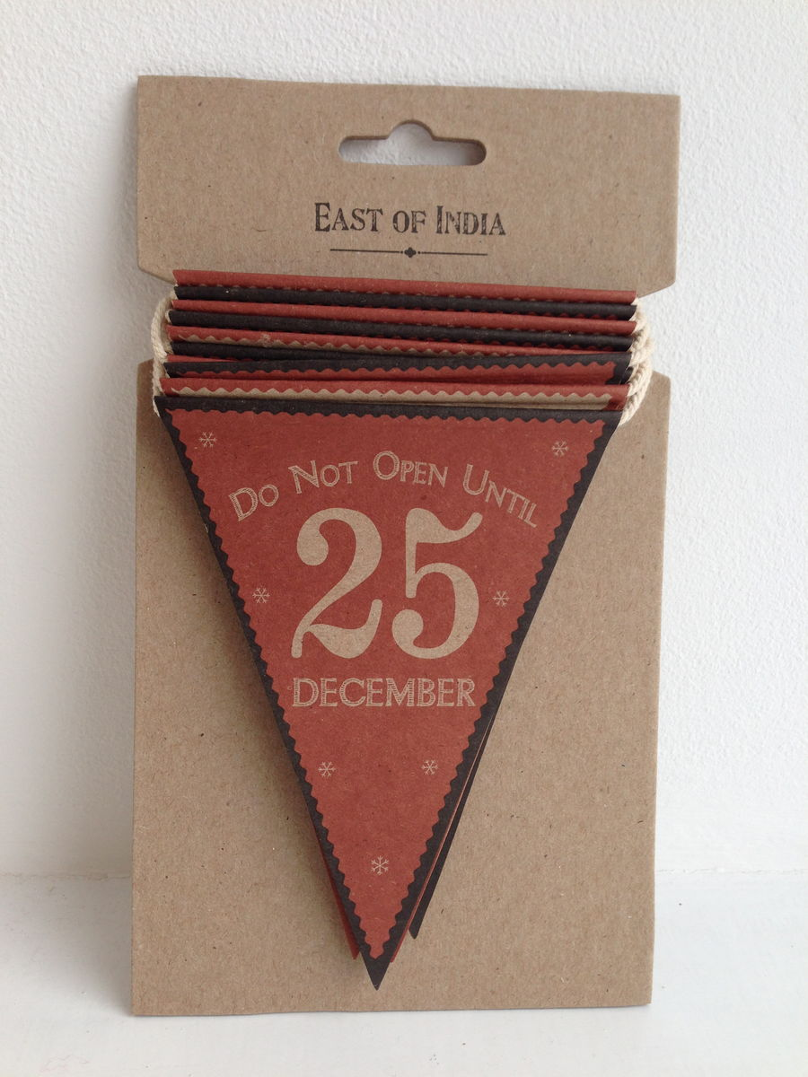 70% OFF Do Not Open Until 25 December Vintage Style Paper Bunting by East Of India - product images  of