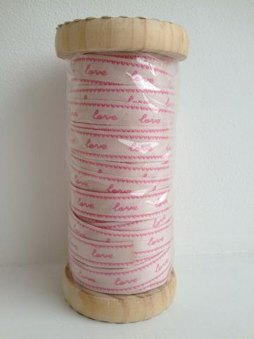 70%,OFF,Embroidered,Pink,Love,Ribbon,1,meter,by,Sass,&,Belle,Pink Love Ribbon 1 meter by Sass & Belle