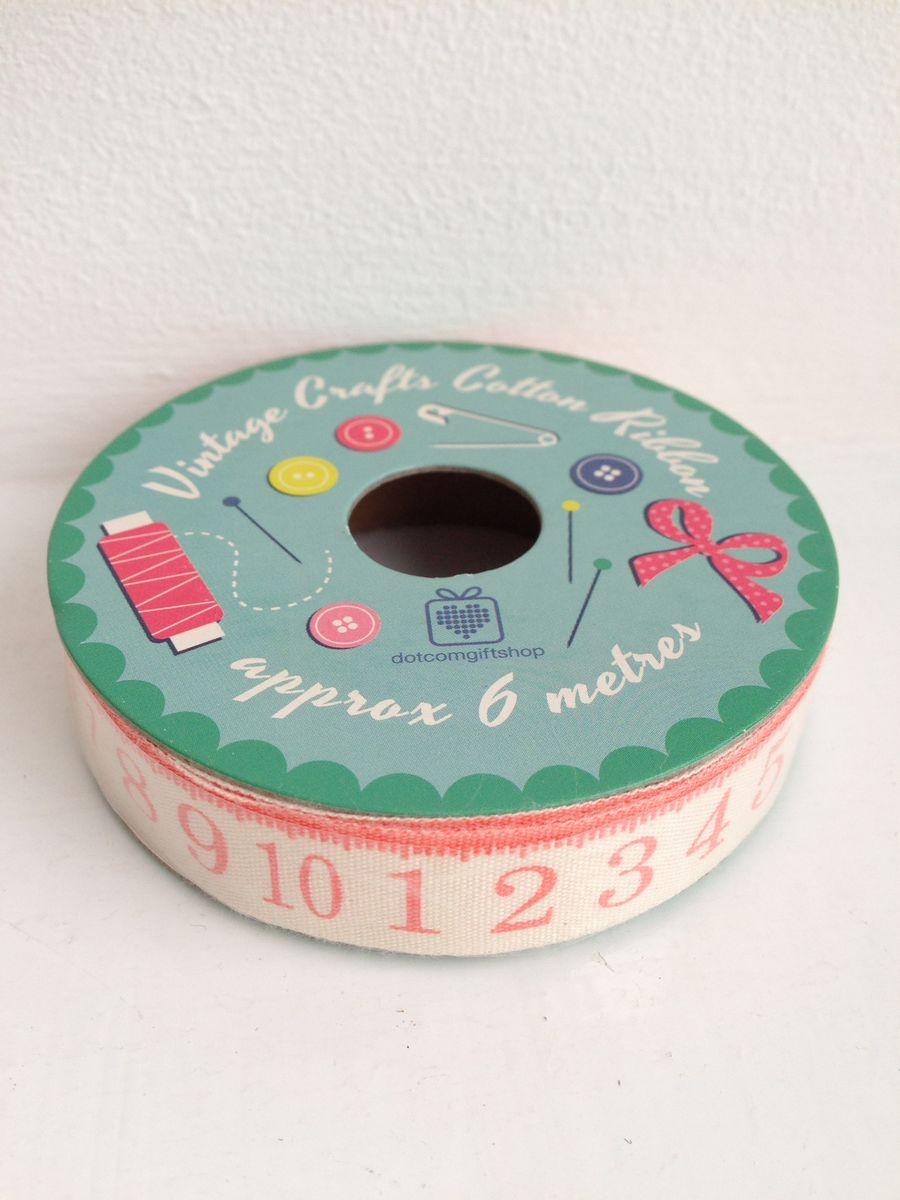 70% OFF Vintage Crafts Cotton Tape Measure Ribbon 6 metre spool by Rex International - product images  of