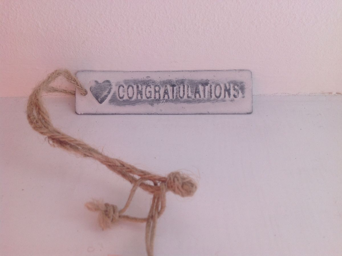 50% OFF Rustic white metal tag by Sass & Belle - Homemade, Mr & Mrs and Congratulations - product images  of