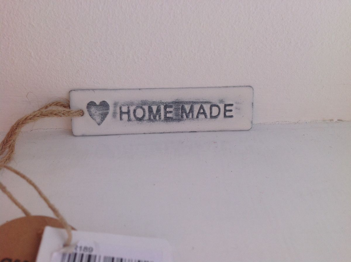 Rustic white metal tag by Sass & Belle - Homemade, Mr & Mrs and Congratulations - product images  of