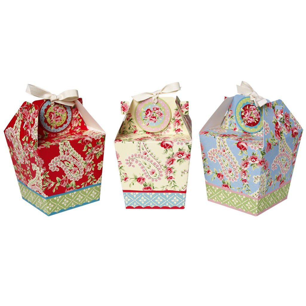 Set Of 3 Paisley Park Panettone Gift Boxes And Tags by Rex International - product images  of