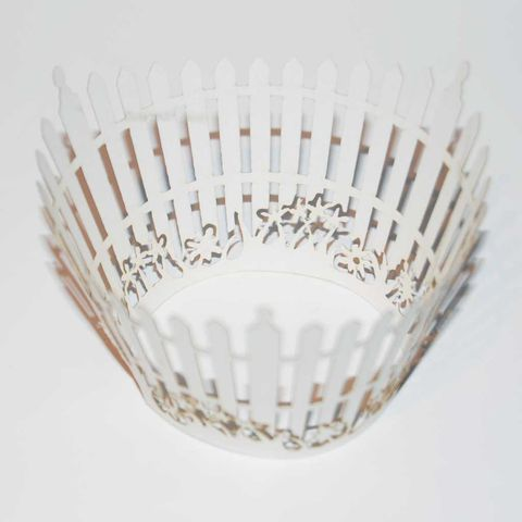 50%,OFF,12pcs,Laser-Cut,Cup,Cake,Wrappers,-,GARDEN,FENCE,12pcs Laser-Cut Cup Cake Wrappers - GARDEN FENCE