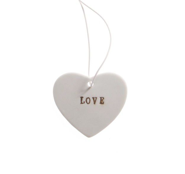 Love Ceramic Hanging Heart by Sass & Belle - product image